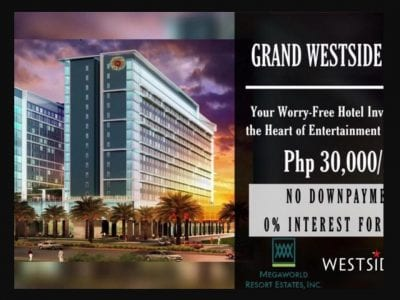 Condotel Investment at Grand Westside Hotel beside SOLAIRE and OKADA